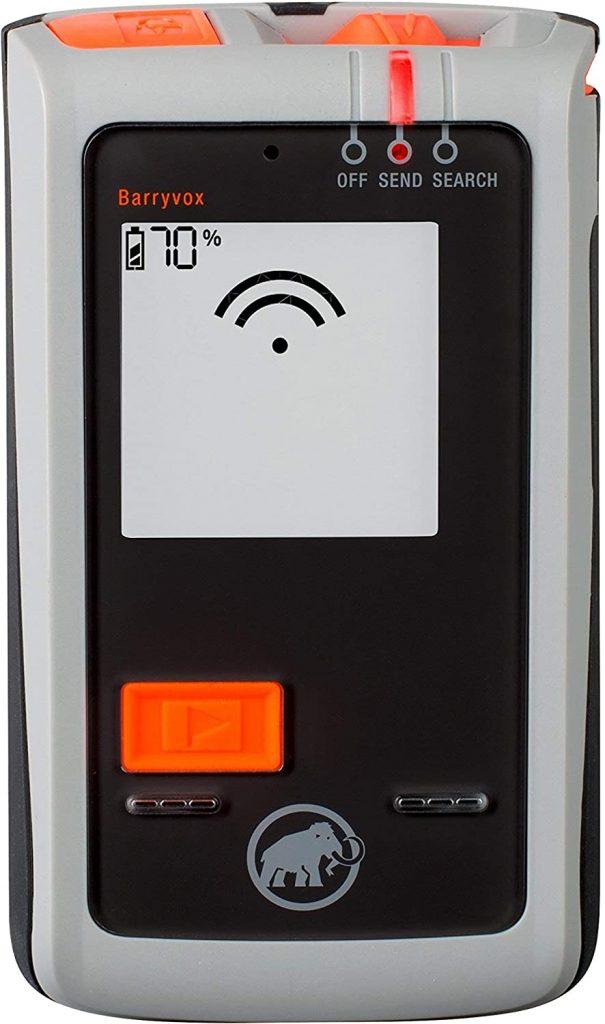 detector víctimas avalanchas batería